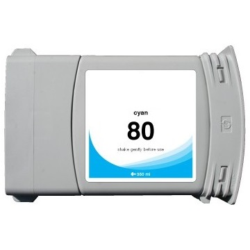 HP 80 Cyan Ink Cartridge - HP Remanufactured  (Cyan)