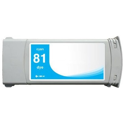HP 81 Cyan Ink Cartridge - HP Remanufactured  (Cyan)