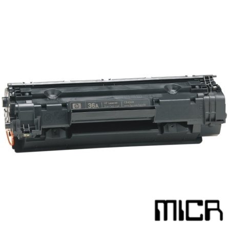 CB436A-micr MICR Toner Cartridge - HP Remanufactured  (Black)