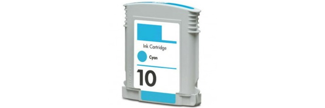 HP 10 Cyan Ink Cartridge - HP Remanufactured (Cyan)