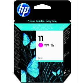 HP 11 Magenta Ink Cartridge - HP Genuine OEM (Magenta)