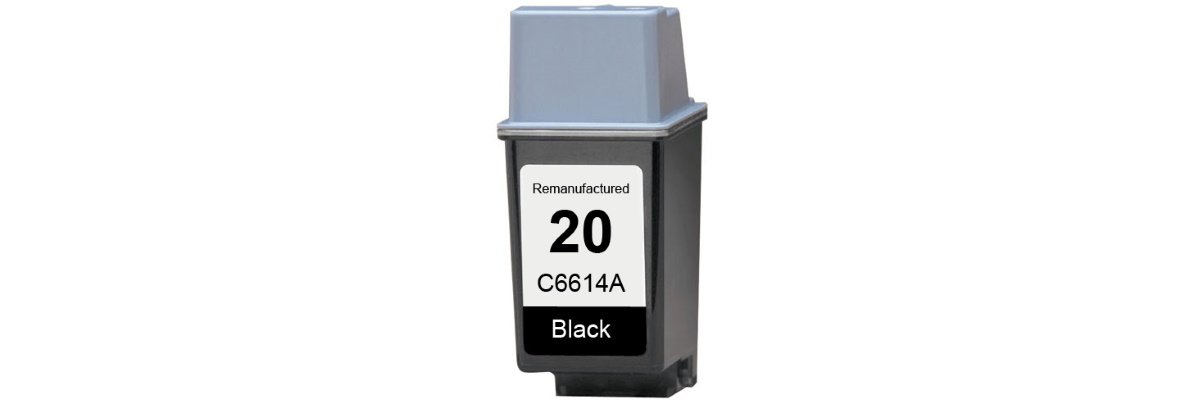 HP 20 Ink Cartridge - HP Remanufactured (Black)