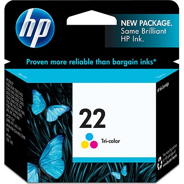HP 22 Ink Cartridge - HP Genuine OEM (Tricolor)