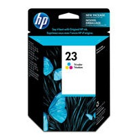 HP 23 Ink Cartridge - HP Genuine OEM (Tricolor)