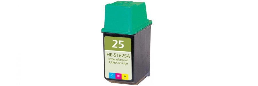 HP 25 Ink Cartridge - HP Remanufactured (Tricolor)