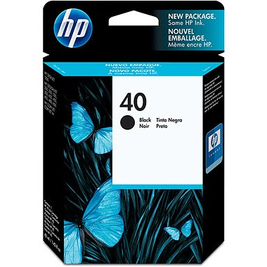HP 40 Black Ink Cartridge - HP Genuine OEM (Black)