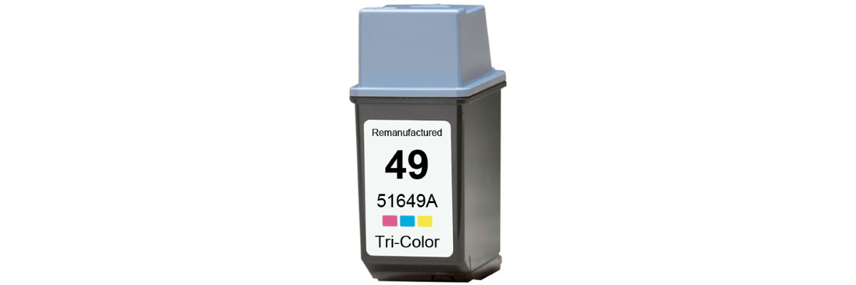 HP 49 Ink Cartridge - HP Remanufactured (Tricolor)