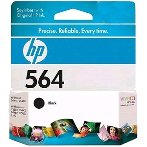 HP 564 Black Ink Cartridge - HP Genuine OEM (Black)