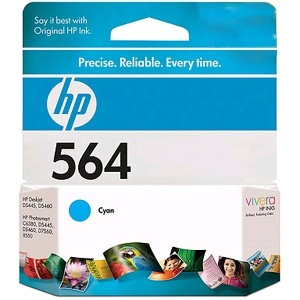 HP 564 Cyan Ink Cartridge - HP Genuine OEM (Cyan)