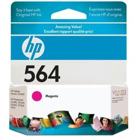 HP 564 Magenta Ink Cartridge - HP Genuine OEM (Magenta)