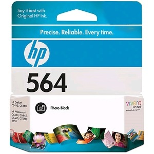 HP 564 Photo Black Ink Cartridge - HP Genuine OEM  (Photo Black)