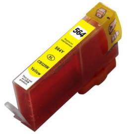 HP 564XL Yellow Ink Cartridge - HP Remanufactured  (Yellow)