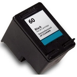 HP 60 Black Ink Cartridge - HP Remanufactured (Black)