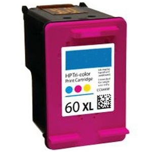 HP 60XL Tricolor Ink Cartridge - HP Remanufactured  (Tricolor)