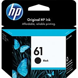 HP 61 Black Ink Cartridge - HP Genuine OEM  (Black)