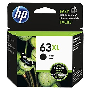 HP 63XL Black Ink Cartridge - HP Genuine OEM (Black)