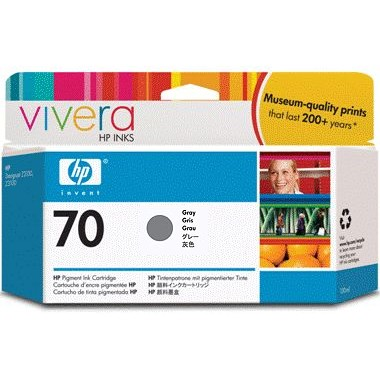 HP 70 Gray Ink Cartridge - HP Genuine OEM (Gray)