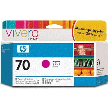 HP 70 Magenta Ink Cartridge - HP Genuine OEM (Magenta)