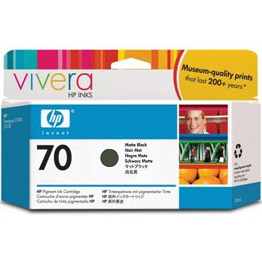 HP 70 Matte Black Ink Cartridge - HP Genuine OEM (Matte Black)