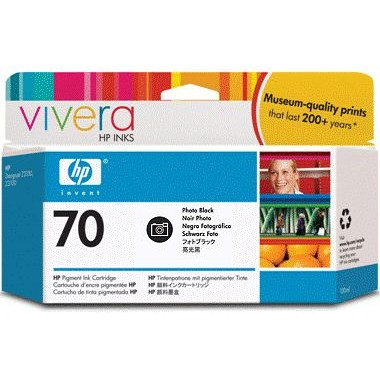 HP 70 Photo Black Ink Cartridge - HP Genuine OEM (Photo Black)