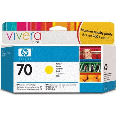 HP 70 Yellow Ink Cartridge - HP Genuine OEM (Yellow)