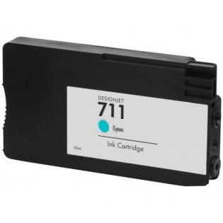 HP 711 Cyan Ink Cartridge - HP Remanufactured (Cyan)