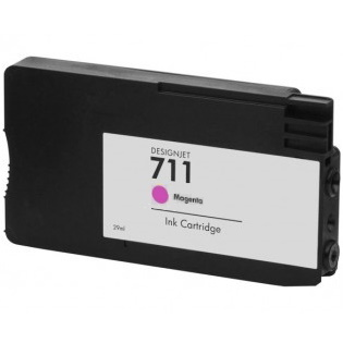 HP 711 Magenta Ink Cartridge - HP Remanufactured (Magenta)
