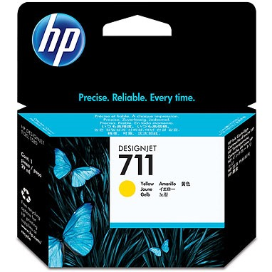 HP 711 Yellow Ink Cartridge - HP Genuine OEM (Yellow)