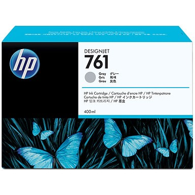 HP 761 Gray Ink Cartridge - HP Genuine OEM (Gray)
