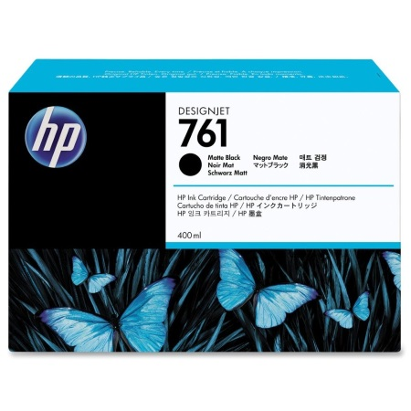 HP 761 Matte Black Ink Cartridge - HP Genuine OEM (Matte Black)
