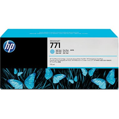 HP 771 Light Cyan Ink Cartridge - HP Genuine OEM (Light Cyan)