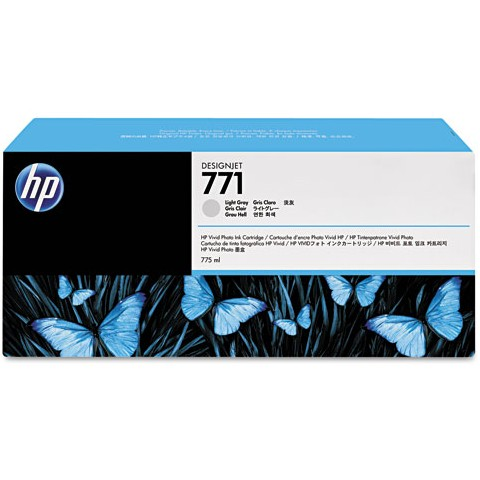 HP 771 Light Gray Ink Cartridge - HP Genuine OEM (Light Gray)