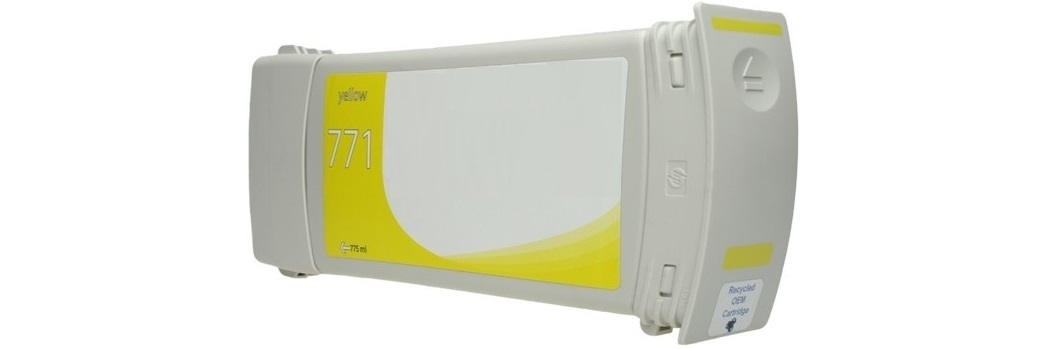 HP 771 Yellow Ink Cartridge - HP Remanufactured (Yellow)