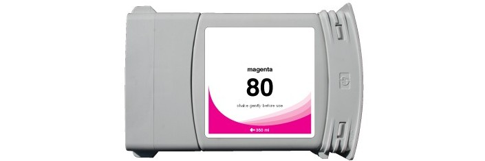 HP 80 Magenta Ink Cartridge - HP Remanufactured (Magenta)