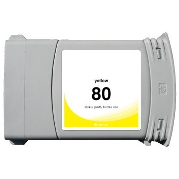 HP 80 Yellow Ink Cartridge - HP Remanufactured (Yellow)