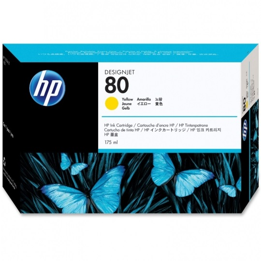 HP 80 Yellow Ink Cartridge - HP Genuine OEM (Yellow)