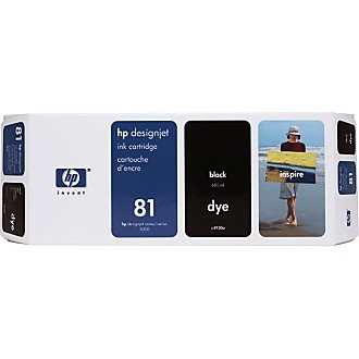 HP 81 Black Ink Cartridge - HP Genuine OEM (Black)