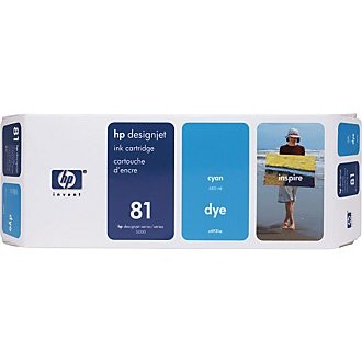 HP 81 Cyan Ink Cartridge - HP Genuine OEM (Cyan)