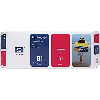 HP 81 Magenta Ink Cartridge - HP Genuine OEM (Magenta)