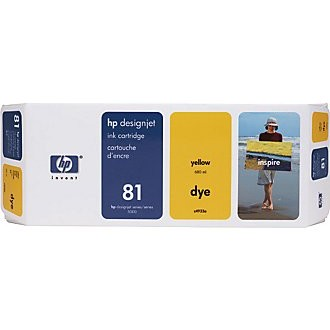 HP 81 Yellow Ink Cartridge - HP Genuine OEM (Yellow)