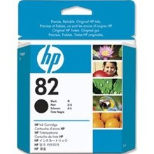 HP 82 Black Ink Cartridge - HP Genuine OEM (Black)