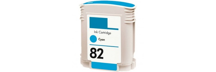 HP 82 Cyan Ink Cartridge - HP Remanufactured (Cyan)