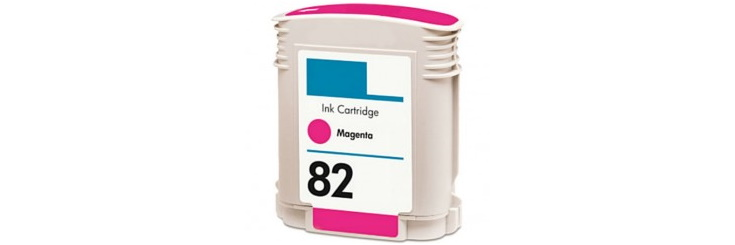 HP 82 Magenta Ink Cartridge - HP Remanufactured (Magenta)