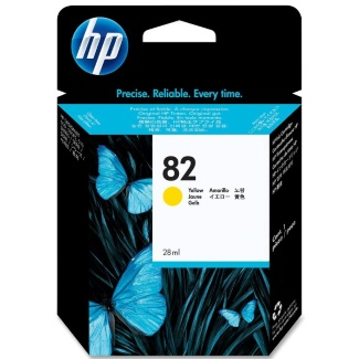 HP 82 Yellow Ink Cartridge - HP Genuine OEM (Yellow)