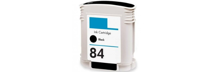 HP 84 Black Ink Cartridge - HP Remanufactured (Black)