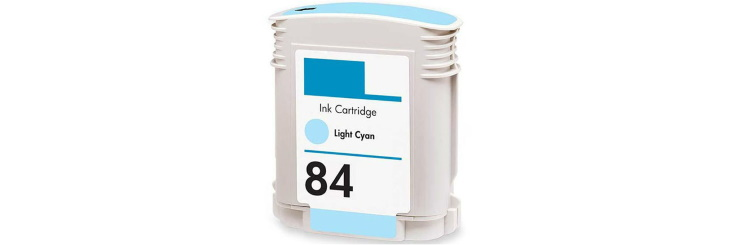 HP 84 Light Cyan Ink Cartridge - HP Remanufactured (Light Cyan)