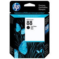 HP 88 Black Ink Cartridge - HP Genuine OEM (Black)