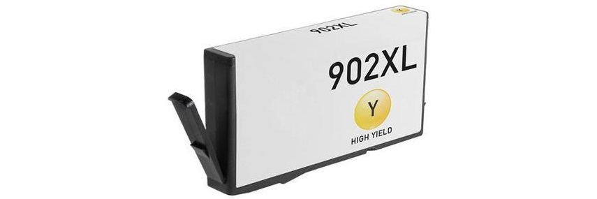 HP 902XL Yellow Ink Cartridge - HP Remanufactured (Yellow)