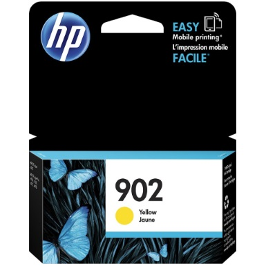 HP 902 Yellow Ink Cartridge - HP Genuine OEM (Yellow)