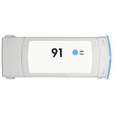 HP 91 Light Cyan Ink Cartridge - HP Remanufactured (Light Cyan)